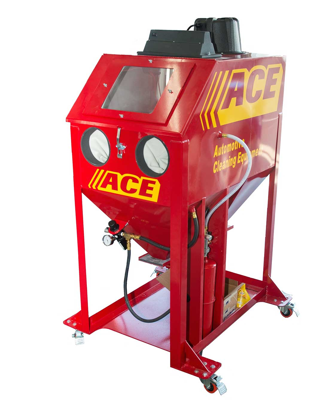 all new ACE SODA PLUS Soda Blast Cabinet with built-in Dust Collector